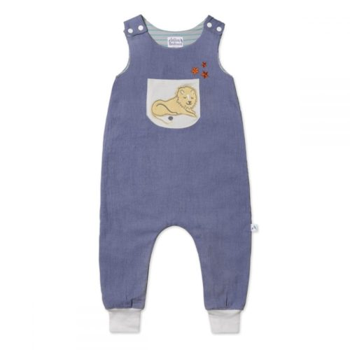 Needlecord Dungarees Lion, Organic Cotton Dungarees