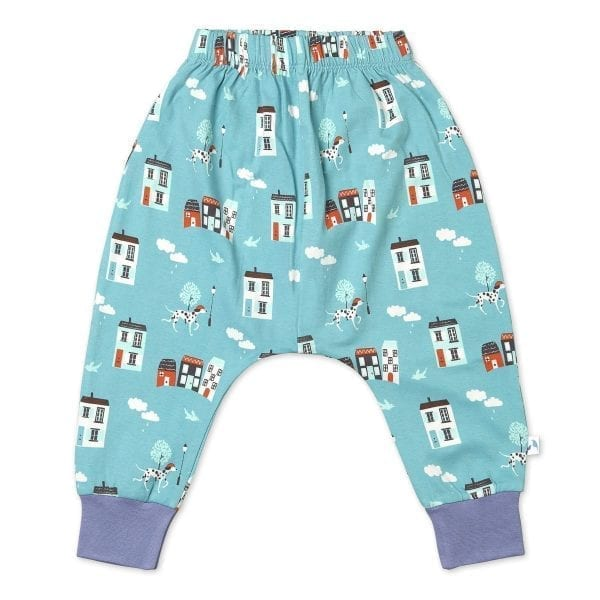 Organic Cotton Joggers House Pattern
