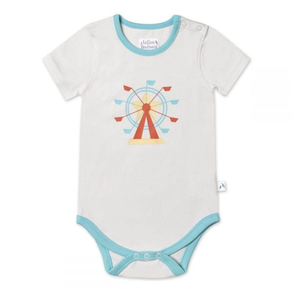 Organic Cotton Short Sleeve Bodysuit Fun Fair