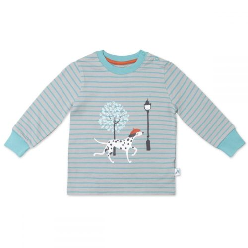 Organic Cotton Long Sleeved T-Shirt, Dog pattern
