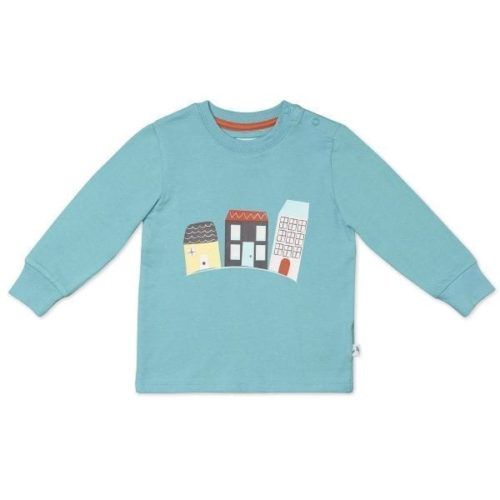 Organic Cotton Long Sleeved T-Shirt, House pattern
