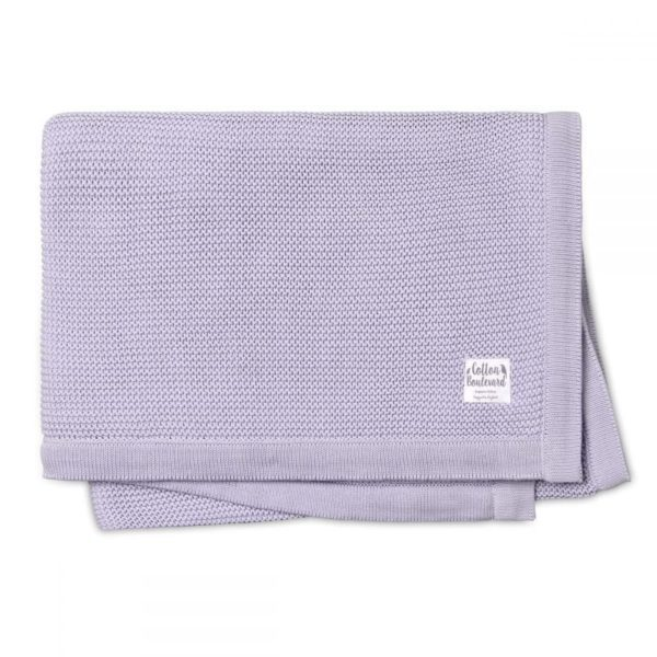 Organic Cotton Knitted Blanket Lavender