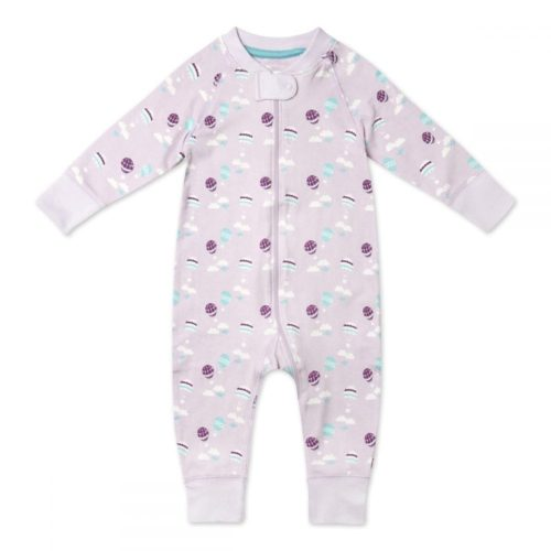 Pure Organic Cotton Romper, Unisex, Balloon Pattern