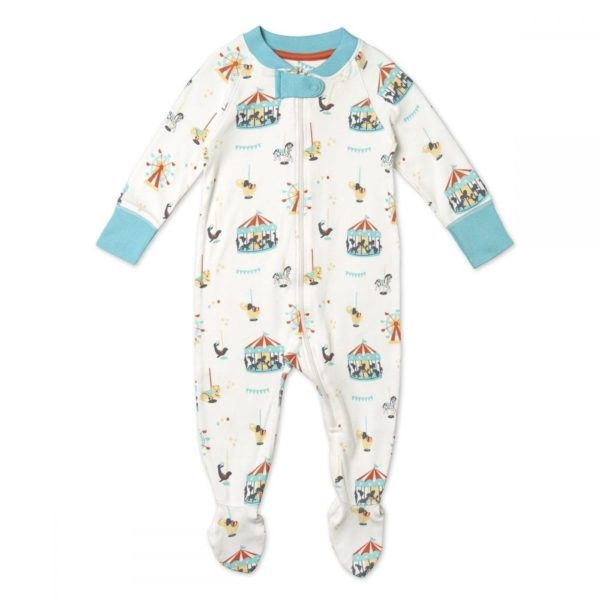 Cotton Sleepsuit, Unisex, Carousel Pattern