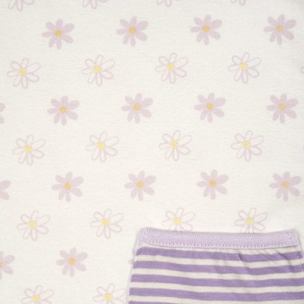 Daisy Flower Print, Organic Cotton