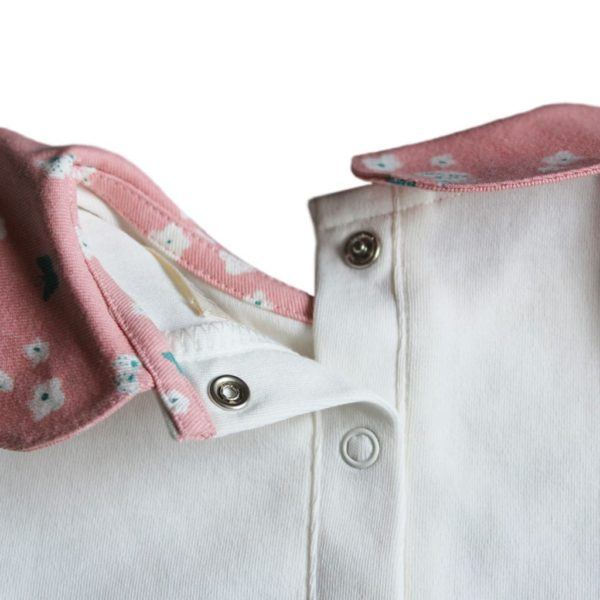 Pink Butterfly Collar Jersey Tshirt