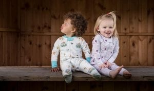 Toddlers in Sleepsuit and Romper