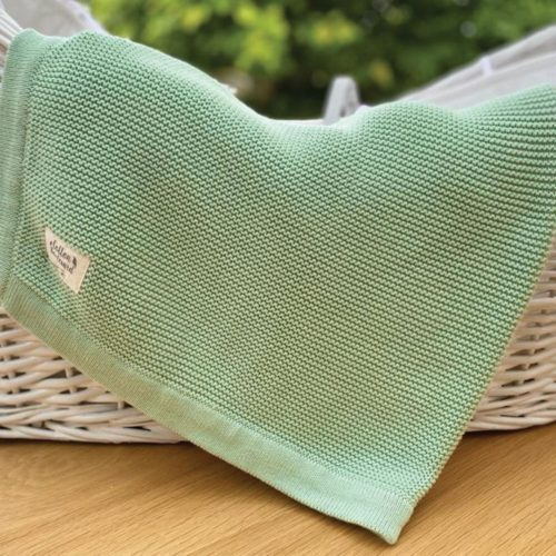 Organic Cotton Blanket in basket