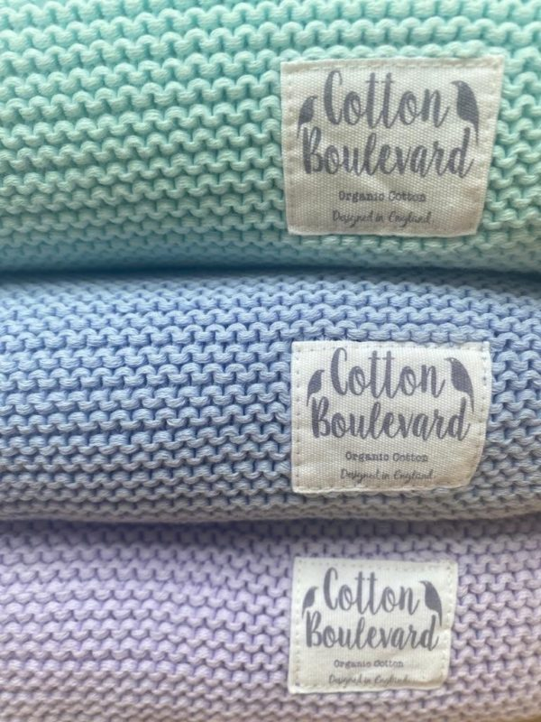 Organic Cotton Blankets in a selection of colours